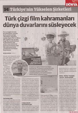 Türk çizgi film kahramanları dünya duvarlarını süsleyecek